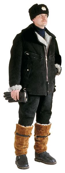 Куртка меховая нагольная для лётного состава.  294,71.  Застежка - силовая металлическая молния.